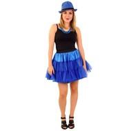 Petticoat blauw 3-laags