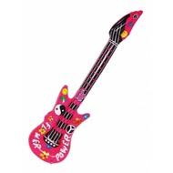 Opblaasbare gitaar flower power