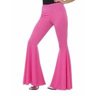 Neon roze disco broek dames