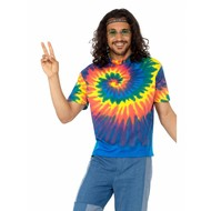 Hippie Tie Dye shirt heren