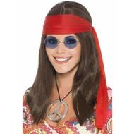 Hippie verkleed set Mercy dames