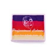 Splitcake in paars rood oranje geel 50gr