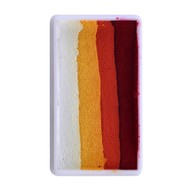 Splitcake donker rood-rood-oranje-wit 28gram