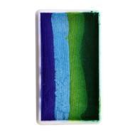 Splitcake donker groen-groen-licht blauw-blauw 28gram