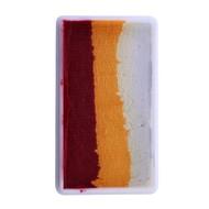 Splitcake bordeaux-oranje-wit 28gram