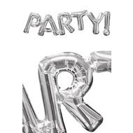 Anagram zilveren folie ballon Party
