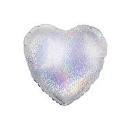 Folie ballon hart zilver  nr. 18 45.7cm