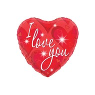 Folie-ballon hart vorm I love you 45.7cm
