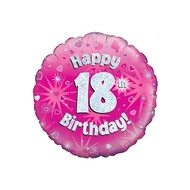 Folie-ballon 21 jaar Happy birthday 18 jaar 45.7cm