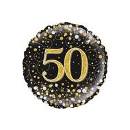 Folie ballon Sparkling 50 jaar 45.7cm