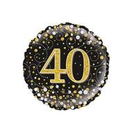 Folie ballon Sparkling 40 jaar 45.7cm