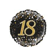 Folie ballon Sparkling 18 jaar 45.7cm