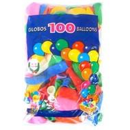 Helium ballonnen 100 x assortie mt 12