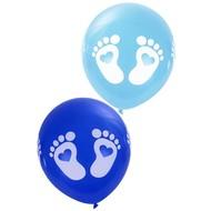 Blauwe geboorteballonen voetjes  30cm