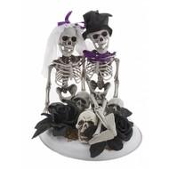 Deco skelet bruid en bruidegom