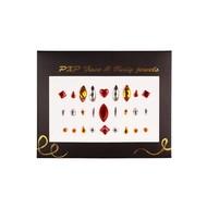Plak juwelen rood-goud-zilver