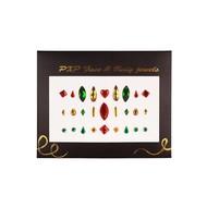 Plak juwelen rood-goud-groen