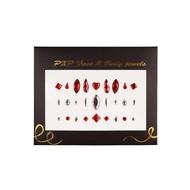Plakjuwelen rood-zilver