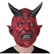 Rood duivel masker meet hoorntjes