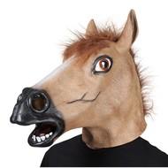 Bruin paarden masker
