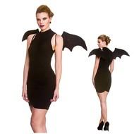Zwarte vleermuis vleugels