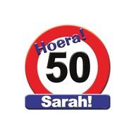 Huldeschild Sarah 50 jaar