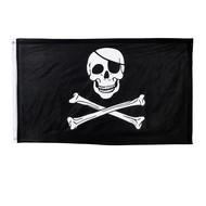 Zwarte piratenvlag doodshoofd