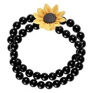 Parel armband hippie met bloem