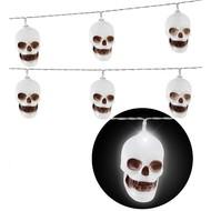 Lichtketting deco met schedels