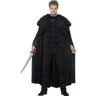Middeleeuwse zwarte Barbaar kostuum heren