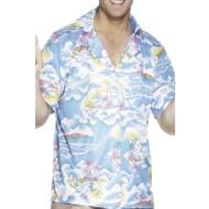 Hawaï Shirt heren blauw