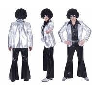 Disco Fever jas zilver heren