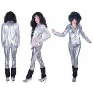 Disco jas Fever zilver dames
