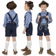 Geruite Beierse blouse kinderen