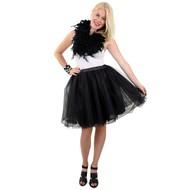 Tule rok deluxe zwart dames