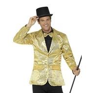 Gouden party jas met glitters