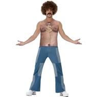 Top met nep harige borst jaren 70 stijl