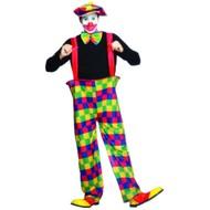Clownsbroek met helpen en accessoires
