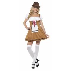 Størrelser store oktoberfest kostume Tyroler Lady