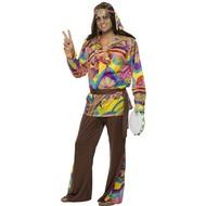 Hippie pak Psychedelic geel