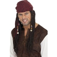 Piraten pruik met hoofddoek