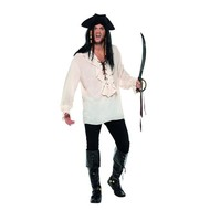 Heren piraten shirt wit