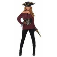 Luxe piratenshirt dames