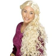 Renaissance pruik in blond