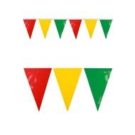 Vlaggenlijn rood/geel/groen 4mtr