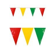 PVC Vlaggenlijn rood/geel/groen 10 mtr