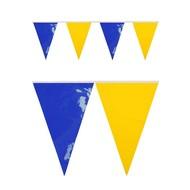 PVC vlaggenlijn blauw/geel 10 meter