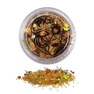 Grove schmink glitters in sprankelend goud