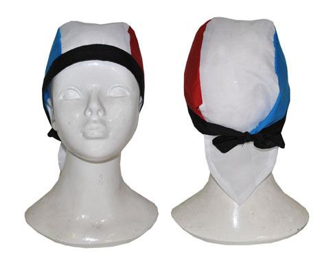 Mooie bandana in de kleuren rood wit en blauw
