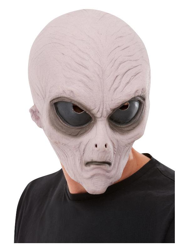 Luxe latex paars Alien masker